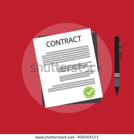 Agreement Signature Pact Accord Convention Symbol Stock Vector