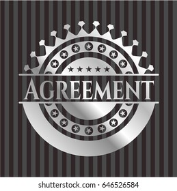 Agreement silvery shiny badge