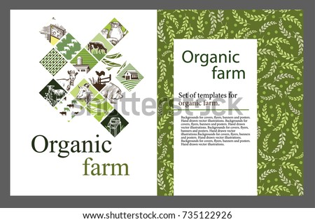 agricultural brochure layout design an example of a backdrop for cattle farm hand drawn - Agriculture Brochure Templates Free
