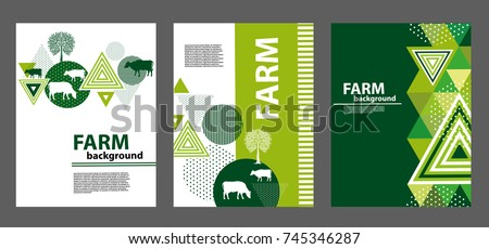agricultural brochure layout design an example of a backdrop for cattle farm geometrical composition - Agriculture Brochure Templates Free