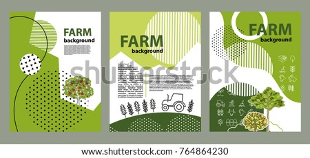 agricultural brochure layout design geometrical composition background for covers flyers banners - Agriculture Brochure Templates Free
