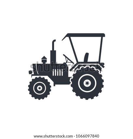 agricultural icon tractor logo template stock vector royalty free
