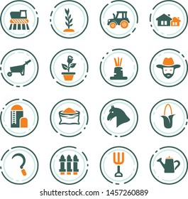Agricultural icons set for web sites and user interface