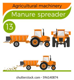 Agricultural machinery: manure spreader