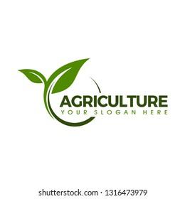 Agricultural seeds logo design template
