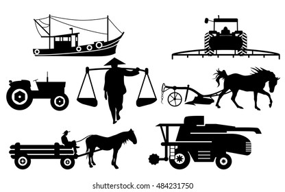Agricultural silhouettes