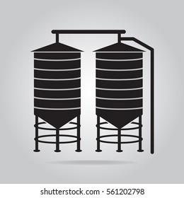 Agricultural silo icon vector illustration