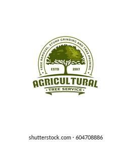 agricultural tree vintage logo badge