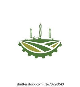 agriculture farm icon logo vector design