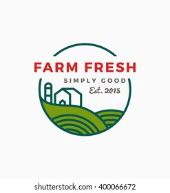 Agriculture and Farm logo template design. Vector illustration