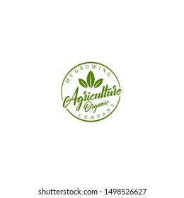 Agriculture logo - farming growing environment
