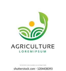 Agriculture Logo Template Design Vector, Emblem, Concept Design, Creative Symbol, Icon
