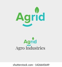 Agriculture natural organic Green leaf economy smile environment friendly industry logo