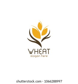 Agriculture Organic Wheat Logo Template Vector Icon Design