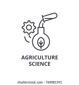 agriculture science line icon, outline sign, linear symbol, vector, flat illustration
