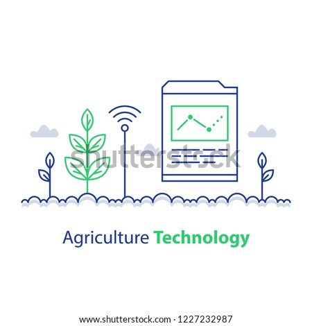 Agriculture Technology Smart Farming Plant Stem Stock Vector