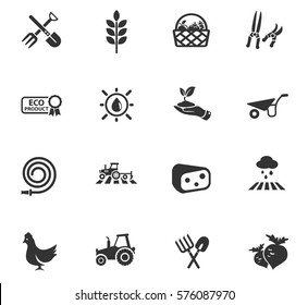 agriculture vector icons for user interface design