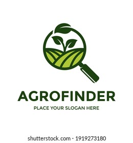 Agriculture vector logo template. This design use leaf symbol. Suitable for search or finder.