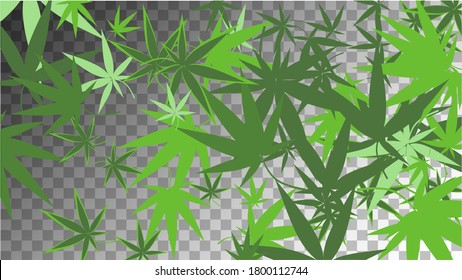 Agriculture Wallpaper. Grass Vector. Transparent Hashish Silhouette.  Organic Medical Texture. Green Agriculture Illustration.  Abstract  Agriculture Wallpaper. White Marijuana Production.