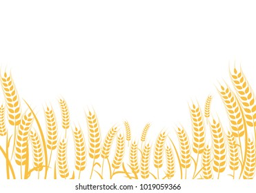 Agriculture wheat Background vector icon Illustration design