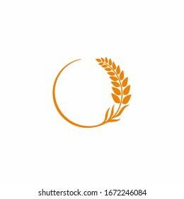 Agriculture wheat / Grain logo design template. Can use for your design elements, business logo, website icons, application icons, UI, and More.