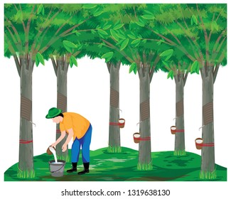 agriculturist harvest rubber water vector design