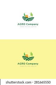 Agro company logo teamplate.