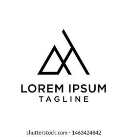 AH, HA, letters logo monogram