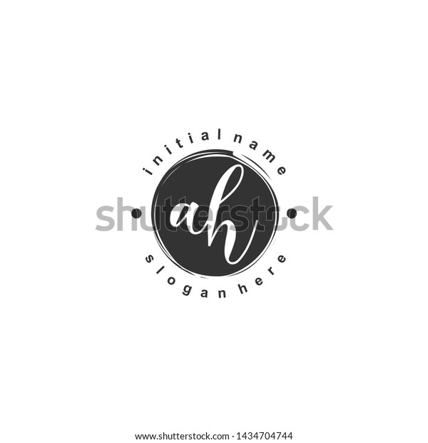 Ah Initial Beauty Monogram Logo Vector Stock Vector Royalty Free 1434704744