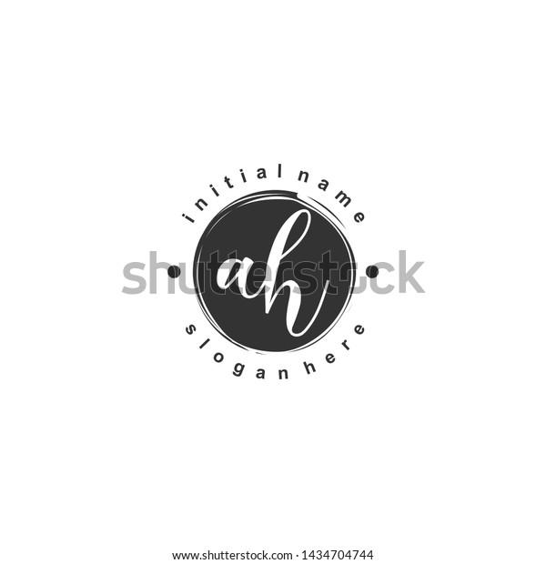 Ah Initial Beauty Monogram Logo Vector Stock Vector Royalty Free 1434704744