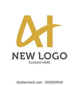 AH logo design vector