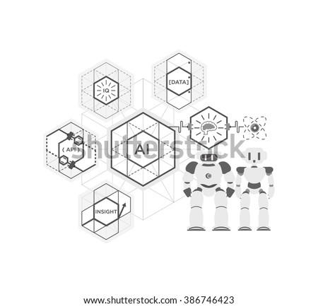 ai api data insight iq cognitive stock vector royalty free