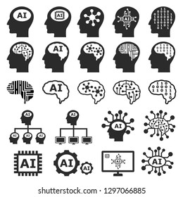 Artificial Intelligence Icon Images Stock Photos Vectors