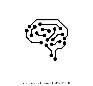 ai artificial intelligence icon vector eps
