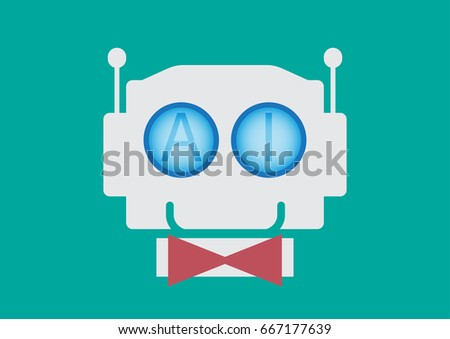 Ai Artificial Intelligence Robot Stock Vector Royalty Free