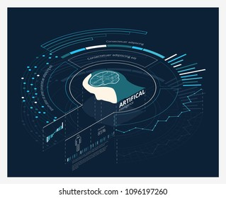 AI Artificial Intelligence Vector Illustration