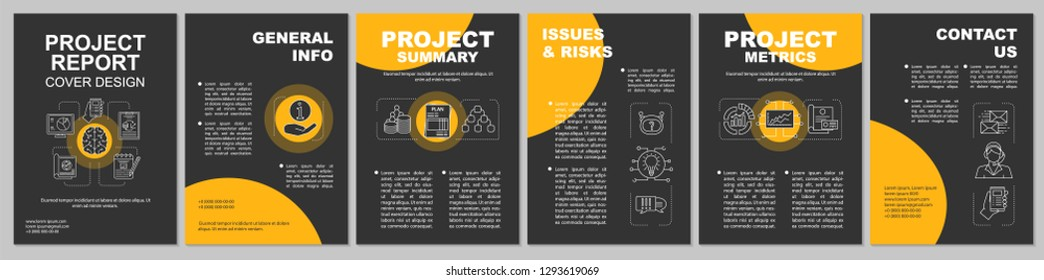 AI brochure template layout. Artificial intelligence. Flyer, booklet, leaflet print design. Big data and machine learning. Vector page layouts for magazines, annual reports, advertising posters