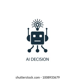 AI Decision icon. Simple element illustration. AI Decision symbol design from Artificial Intelligence collection. Can be used in web and mobile.