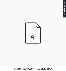 AI file format , linear style sign for mobile concept and web design. Symbol, logo illustration. Pixel perfect vector graphics
