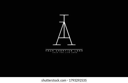 AI IA abstract vector logo monogram template