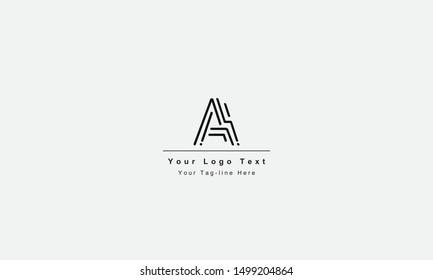 AI or IA letter logo. Unique attractive creative modern initial AI IA A I initial based letter icon logo