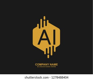 AI Initial letter geometric logo vector