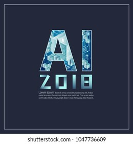 AI Letter (Artificial Intelligence). Easy to use for adding text and captions to your photos and social media.