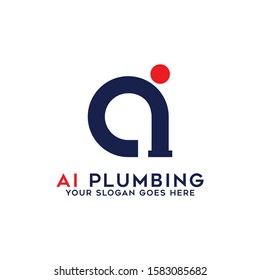 AI plumbing logo designs, Initial name logo inspirations, simple and creative name