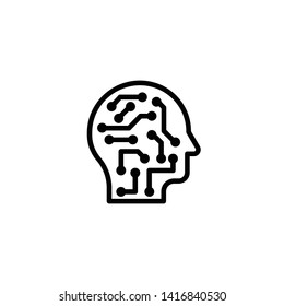 AI vector icon symbol design
