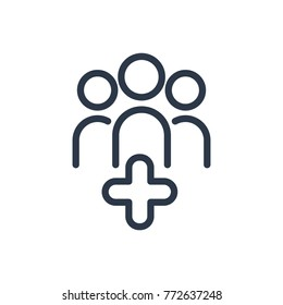 Aid family icon. Isolated people healthcare and aid family icon line style. Premium quality vector symbol drawing concept for your logo web mobile app UI design.
