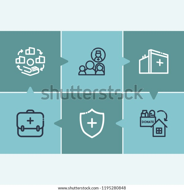 Aid Family Icon Set Medical Center Stock Vector (Royalty