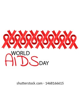 Aids Awareness Red Ribbon. World Aids Day concept. Illustration
