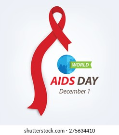 Aids Awareness. World Aids Day concept. Vector illustration.