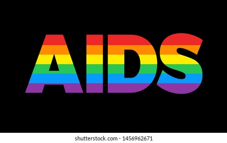 AIDS / HIV and homosexuality / bisexuality - Sexually transmitted infection in gay community. Vector illustration
